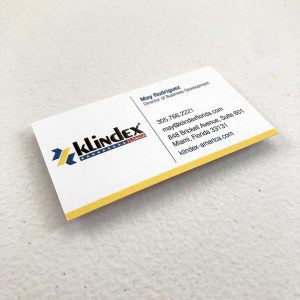 Suede business cards printing cleaning company