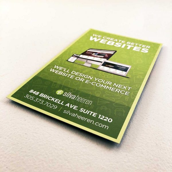 Miami web design postcard printing